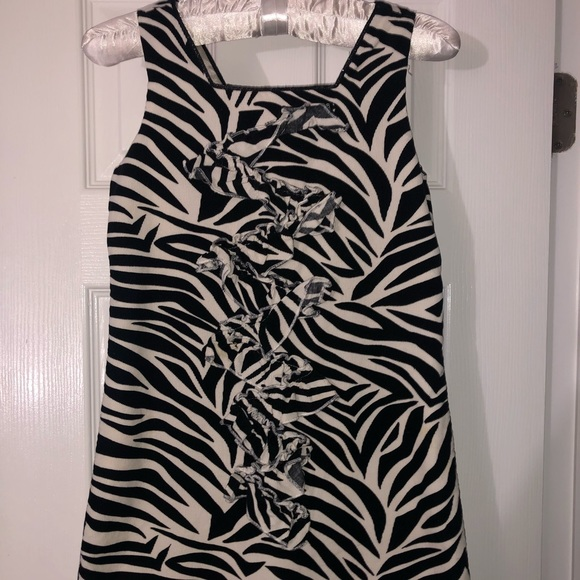 The Children's Place, sz6x/7 black and white dress